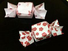 折り紙 キャンディー型 箱      Origami Candy Shaped Box