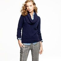 Navy Cowlneck Sweater