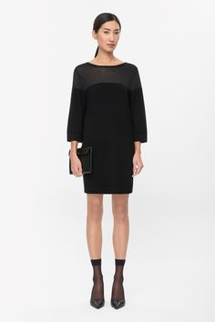 COS | Sheer panel dress