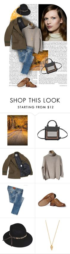 """184. Monnier Freres"" by auroram ❤ liked on Polyvore featuring Pierre Hardy, Nigel Cabourn, Zadig & Voltaire, GUESS, Grenson, Inverni and Elizabeth and James"