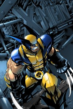Wolverine ( X-Men ) // Marvel // Art Marvel Wolverine, Marvel Comics, Marvel E Dc, Marvel Heroes, Wolverine Cartoon, Wolverine Images, Wolverine Poster, Cosmic Comics, Comic Book Characters