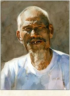 Fine Giclees - Archival Quality Prints of Guan Weixing Watercolor Paintings by Ambleside Gallery — Guan Weixing Watercolor Artists, Watercolor Portraits, Watercolour Painting, Watercolours, Painting People, Figure Painting, Mao Zedong, Chinese Art, Art Drawings