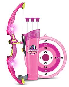 Kids Bow & Arrow Toy, Princess Basic Archery Set Outdoor Hunting Game with 3 Suction Cup Arrows, Target & Quiver, Pink Kids Bow And Arrow, Rangement Makeup, Sports Games For Kids, Kids Outdoor Play, Outdoor Toys, Outdoor Games, Birthday Gifts For Boys, 31 Birthday, Cool Toys