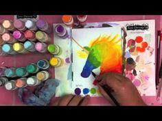 Tim Holtz Dabbers - Art Journal - Jane Davenport - Bright Set