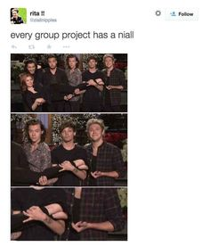 Every group project has a Niall