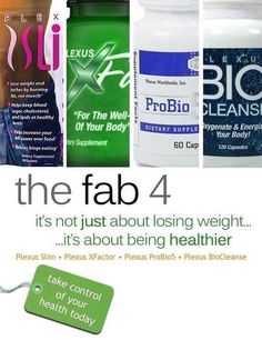 Visit my website for more information of the fab 4 of Plexus. Get healthy with all natural products from the inside out!