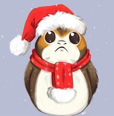 O Christmas Porg, O Christmas Porg Star Wars Christmas, Disney Christmas, Xmas, Star Wars Drawings, Cute Drawings, Star Wars Cartoon, Saga, Star Wars Outfits, Cat Coloring Page
