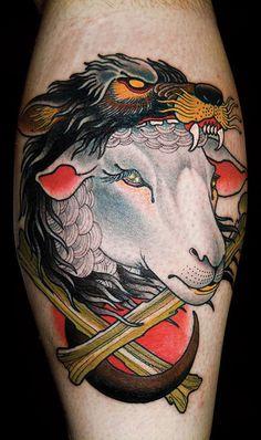 Tattoo done by Curt Baer.