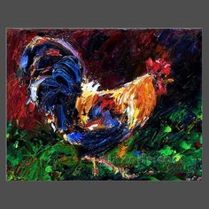 2012 original chicken oil painting by talent artist oil painting