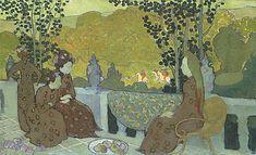 Maurice Denis - Soir d'octobre [panneau pour la décoration d'une chambre de jeune fille] en 1891Musée d'Orsay, Paris.