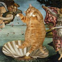 Cats in famous works of art....I am soo glad at least one other person in the world finds this to be brilliant....