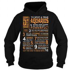 I Love TOP 10 SIGNS  AQUARIUS ZODIAC Shirts & Tees