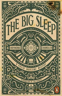 The Big Sleep by Raymond Chandler #book #covers #design