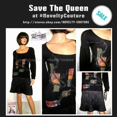 $129.99 or YOUR BEST OFFER  SAVE THE QUEEN Cocktail Dress, T 36-38 / UK 6-8 / S (small) - GORGEOUS!!! #SavetheQueen at #Novelty Couture