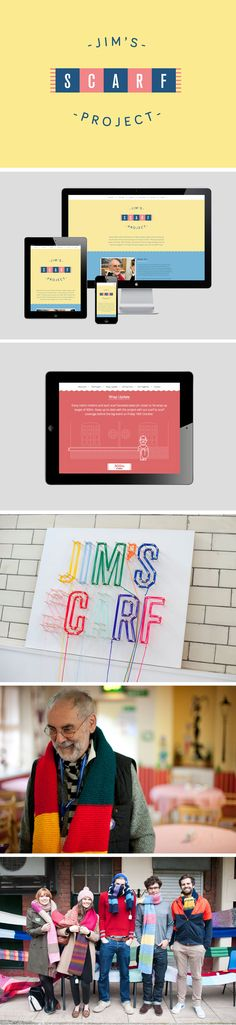 Jim's Scarf Project: we helped 86 year old Jim wrap his residential home in a 400 metre scarf by creating a promotional brand & website.
