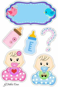Dibujos Baby Shower, Imprimibles Baby Shower, Clipart Baby, Baby Stickers, Planner Stickers, Moldes Para Baby Shower, Scrapbook Bebe, Unisex Baby Shower, Baby Boy Cards