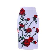 Flower Printed Women Pencil Skirt