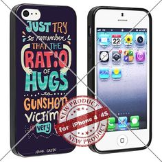 New Apple iPhone 4/4S Case Ratio of Hugs to Gunshot Victims Cool Cell Phone Case Shock-Absorbing TPU Cases Durable Bumper Cover Frame Black Lucky_case26 http://www.amazon.com/dp/B018KOQP4M/ref=cm_sw_r_pi_dp_m7-wwb1H4X4RP