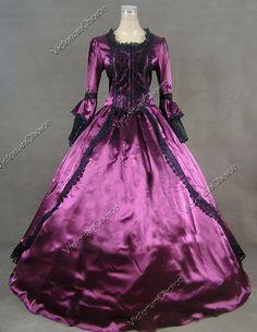 Marie Antoinette Gothic Victorian Gown Wedding Dress