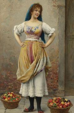 Eugene de Blaas  The market girl