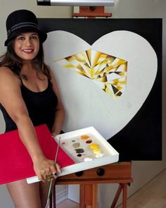 It's that heart of gold, and stardust soul that make you beautiful!  My yellow, heart-shaped diamond painting, the 'Heart of Gold' so far.  #ReenaAhluwalia #JewelerWhoPaints #Diamonds #FancyColorDiamonds #YellowDiamonds #YellowDiamond #HeartShapedDiamond