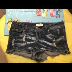 Jake Jean Shorts size 11 Like new Jake Jean Shorts size 11, Super cute distressed in front  and around the pockets in the back. Fabric is 98 % cotton and 2 % spandex. Jake Shorts Jean Shorts