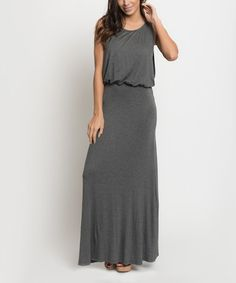 Look what I found on #zulily! Charcoal Blouson Draped Tube Maxi Dress by Caralase #zulilyfinds