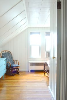 AFTER - Transforming an attic bedroom with white paint -- Plaster & Disaster