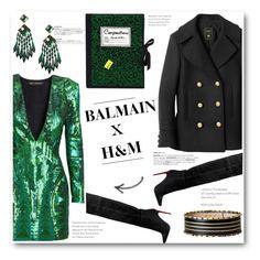 """No 246:Balmain X H&M"" by lovepastel ❤ liked on Polyvore featuring Olympia Le-Tan, balmain and hmbalmaination"