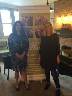 Shamshad and Sarah - one of the owners of The Ruddington Arms