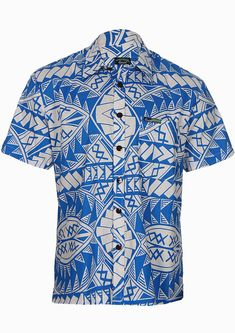 High quality and very unique elei/aloha shirt featuring extremely inspirational tribal tattoo designs patters in vibrant mykonos blue colors. Ethnic Fashion, Mens Fashion, Fashion Trends, Maori Tribe, Mykonos Blue, Tribal Shirt, Tropical Dress, Tribal Tattoo Designs, Aloha Shirt