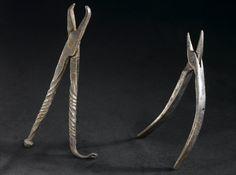 Crow's bill dental forceps, Macedonia, 1801-1910 -- www.seasonalhealth.com