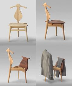 Valet Chair, designed in 1951, it was designed to help solve the problem of…