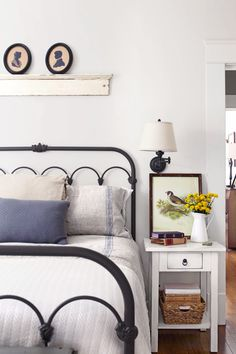"""Erin and Ben Napier from HGTV's """"Home Town,"""" own this home in Mississippi. Their bedroom has wood floors that feel like glass."""