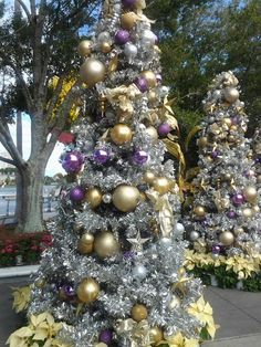Photo I took of Christmas Trees at Downtown Disney.
