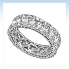 diamond wedding bands for women | 14k White gold and diamond women's eternity band