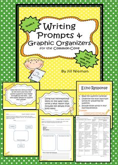 Grade 4 Writing Task Cards, graphic organizers, checklists, rubrics, and more! Can be used with any text!