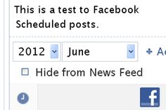 Schedule posts on Facebook pages to appear later