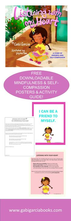 Mindful books that support kids in practicing gratitude, anxiety relief, self-regulations skills, and self-compassion. Counseling Activities, Therapy Activities, Kids Therapy, Group Activities, Coping Skills, Social Skills, Social Work, Mindfulness For Kids, Mindfulness Activities