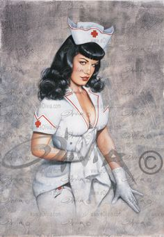 NURSE BETTIE Limited Edition Giclee on Paper