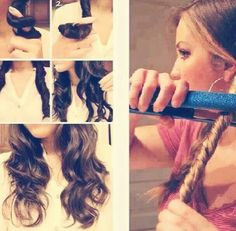 How to create beachy waves, too bad my hair isn't long enough for this...