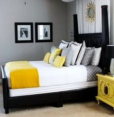 45 Mens Bedroom Ideas_22 · Grey Yellow ...