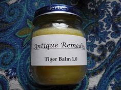 Antique Remedies: Homemade Tiger Balm