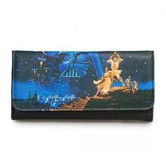 Loungefly Star Wars Luke & Leia Darth Vader Carrie Fisher Wallet STWA0011