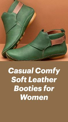 Cute Shoes Flats, Leather Ankle Boots, Women's Ankle Boots, Leather Bags, Soft Leather, Comfortable Work Shoes, Boot Camp Workout, Shoes World, Bootie Sandals