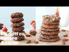 Biscuiți cu Cacao și Banane! Vegani și fără gluten! - YouTube Fără Gluten, Cereal, Place Card Holders, Breakfast, Youtube, Food, Banana, Morning Coffee, Essen