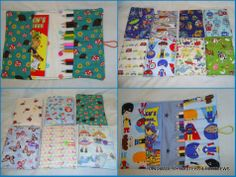 Book Wallet with Pencils / book - The Supermums Craft Fair