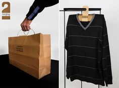 'Hangbag' is a paper bags that is transformed into a hanger with a few twists and folds in an attempt to replace plastic versions.