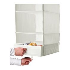 SKUBB Box with compartments - white - IKEA