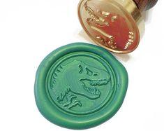 DINOSAUR T-REX SKULL Tyrannosaurus Bone Wax Seal by MisterStamp